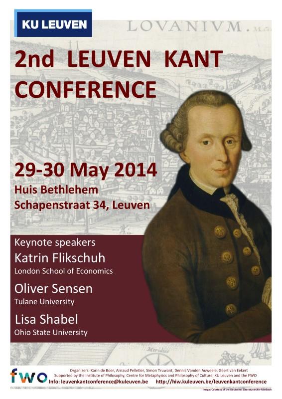 Leuven Kant Conference (Leuven, May 29-30, 2014)