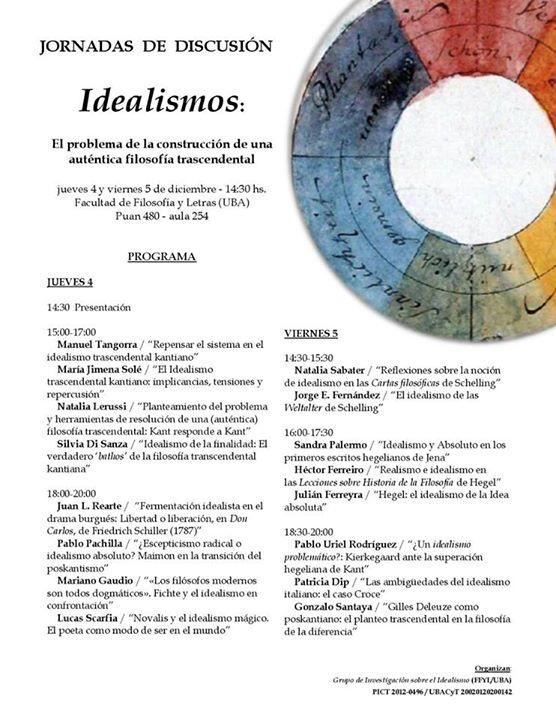 Workshop: El problema de la construcción de una auténtica filosofía trascendental (Dec. 4th-5th, 2014 UBA)