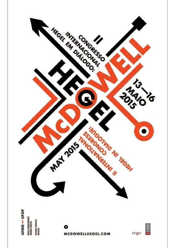 "Cfp: ""Hegel and McDowell"" (Belo Horizonte/Ouro Preto, May 13-16, 2015)"