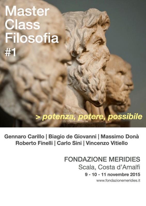 Prima Master Class internazionale in Filosofia sul tema Potenza, Potere, Possibile inaugurata dalla Fondazione Meridies di Scala (SA)