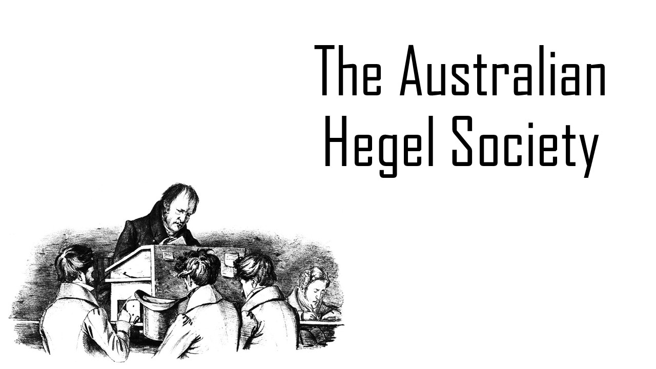 Inaugural Conference of the Australian Hegel Society