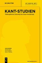 New release: Kant Studien