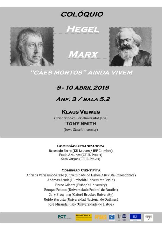 "Conference: «Hegel-Marx: ""dead dogs"" still live» (Lisbon, 9-10 April 2019)"