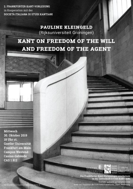 Lecture: 2. Frankfurter Kant-Vorlesungen (Frankfurt, 30 October, 2019)