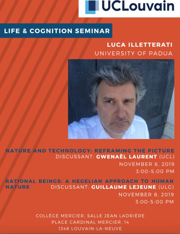 Lecture: Luca Illetterati, Life & Cognition Seminar (UCLovain, 6-8 November, 2019)