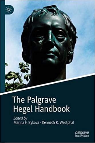 NEW RELEASE: The Palgrave Hegel Handbook (Palgrave Macmillan, 2020)