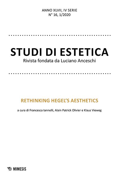 "New Release: Studi di estetica ""Rethinking Hegel's Aesthetics"" (n. 16, 1/2020)"
