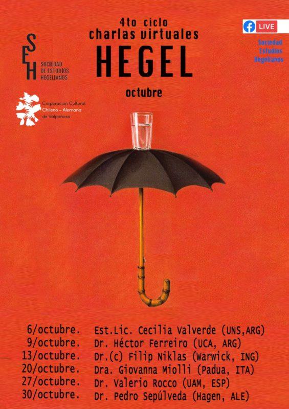 4th SERIES OF ONLINE TALKS: SOCIEDAD DE ESTUDIOS HEGELIANOS (OCTOBER, 2020)