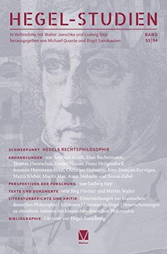 "New Release: ""Hegel-Studien"", Volume 53/54 1"