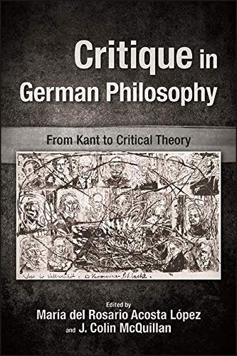 "New release: María del Rosario Acosta López, J. Colin McQuillan (eds.), ""Critique in German Philosophy. From Kant to Critical Theory"" (SUNY Press, 2020)"