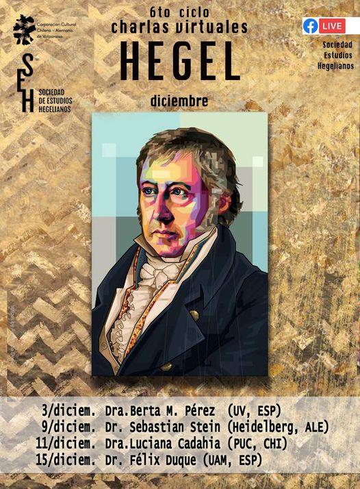 6th Series of Online Talks: Sociedad de Estudios Hegelianos (December 2020)