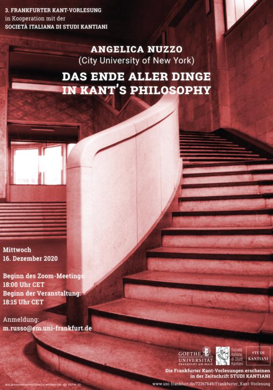 Online Event: 3. Frankfurter Kant-Vorlesung (16 December, 2020)