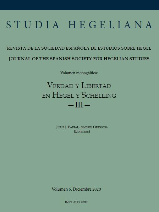 "New Release: Studia Hegeliana (vol. 6 – 2020): ""Verdad y Libertad en Hegel y Schelling III"" (ed. by Juan J. Padial and Andrés Ortigosa)"