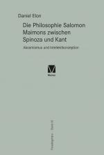 """New release: Daniel Elon, """"Die Philosophie Salomon Maimons zwischen Spinoza und Kant. Akosmismus und Intellektkonzeption"""" (Meiner, 2021)"""