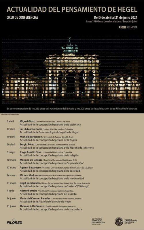 Online Circle of Conference: Actualidad del pensamiento de Hegel