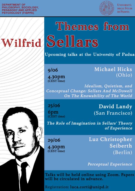 Themes from Sellars. Three talks at the University of Padua