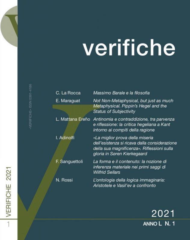New Release: Verifiche (Anno L, No 1, 2021)