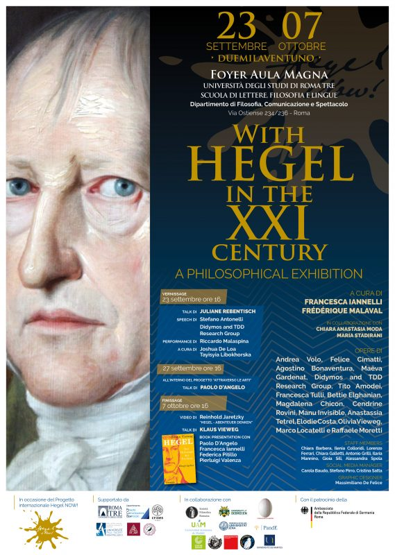 """EVENT: """"With Hegel in the XXI Century. A Philosophical Exhibition"""" (Rome, 23 September-07 October 2021)"""
