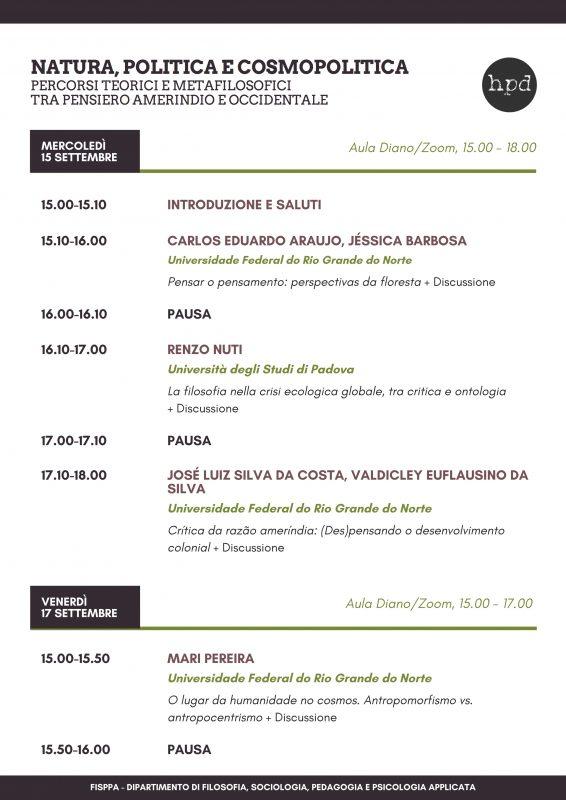 Workshop: Natura, politica e cosmopolitica (Padova-Natal, 15-17-20 settembre 2021) 1